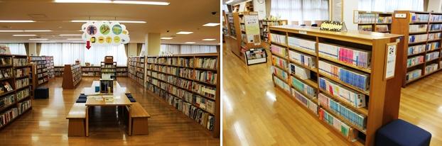 大泉図書館は「YA」ではなく、「青少年コーナー」と表示し、児童・生徒への読書推進を行っている。右は青少年文庫コーナー。